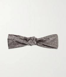 Knot leopard-print silk headband