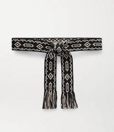 Etko fringed jacquard belt