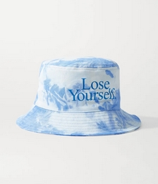 + Peter Saville printed tie-dyed cotton-canvas bucket hat
