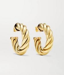 Spira gold-tone hoop earrings