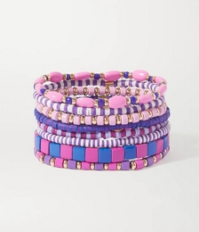 Colour Therapy set of eight enamel and gold-tone bracelets