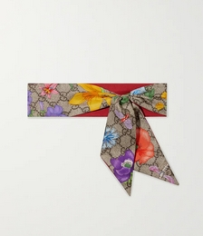 Printed silk-twill scarf