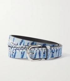 Zap tie-dyed suede belt