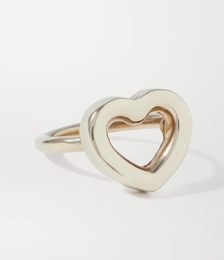 Cuore gold-tone ring
