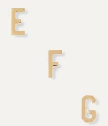Alphabet gold earring