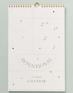 2021 Intentional Wall Calendar