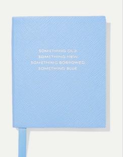Panama Something Old, Something New, Something Borrowed, Something Blue Textured-leather Notebook