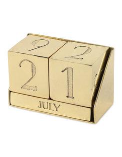 Block Perpetual Brass Calendar