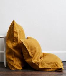 Turmeric 100% Flax Linen Pillowcases (Set of Two)