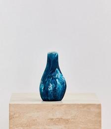 Medium Liquid Vase In Moody Blue Swirl