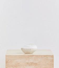 Volcanic Jar In Swirl White & Clear