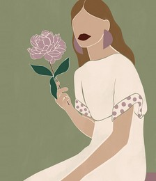 Rose England x Bed Threads 'Peony' Print