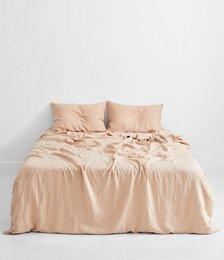 Terracotta 100% Flax Linen Bedding Set