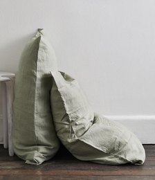 Sage 100% Flax Linen Pillowcases (Set of Two)