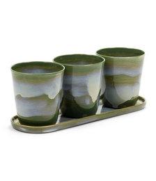 Herbs Pot with Saucer - Set of Three