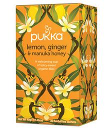 Lemon, Ginger and Manuka Honey Organic Tea - 40g 20 Sachets