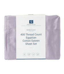 400TC Luxurious Egyptian Cotton Sateen Sheeting in Lavender