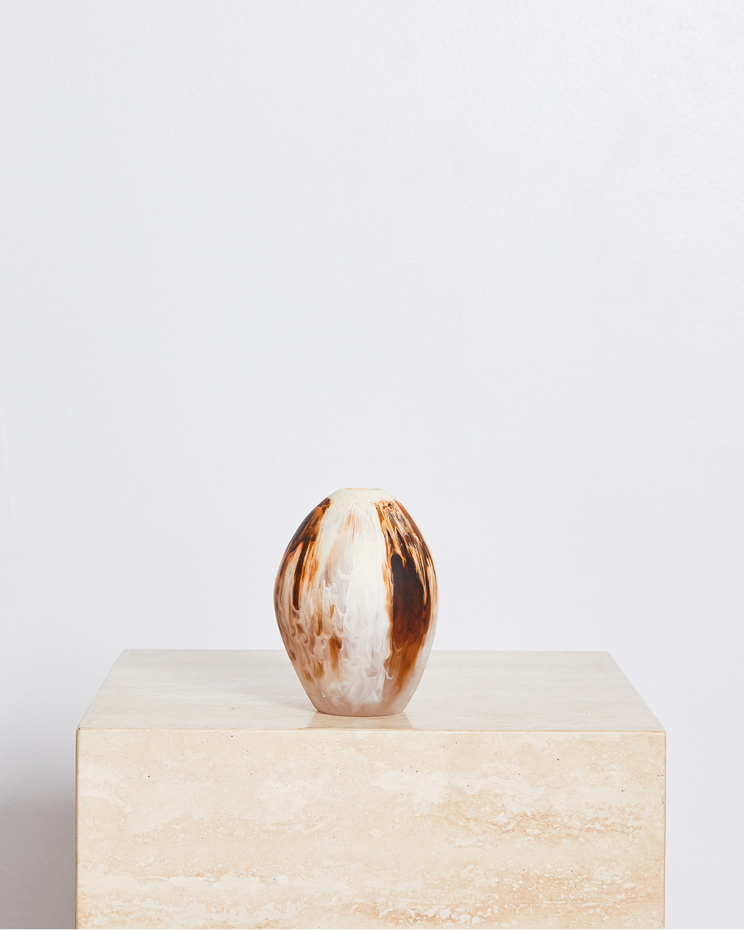 Large River Stone Vase In Light Horn Swirl