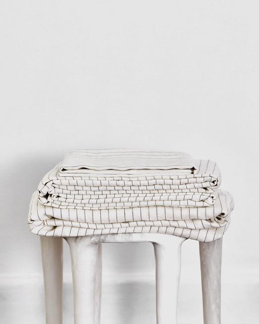 Stripe 100% Flax Linen Sheet Set
