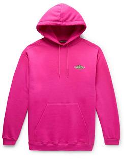 Logo-Print Fleece-Back Cotton-Jersey Hoodie