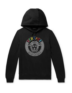 Logo-Detailed Loopback Cotton-Jersey Hoodie
