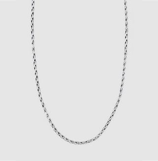 Men Buddha Wheat Chain Braided Clasp 925 Sterling Silver