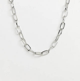 Industrial Style Neck Chain in Silver