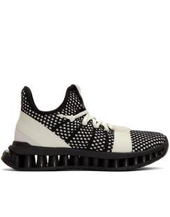 Black & White TechMerino A-Maze Sneakers