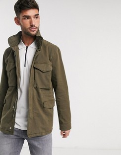 Field Jacket with Zip Detail