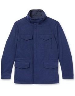 Storm System Reversible Cashmere-Jersey Field Jacket
