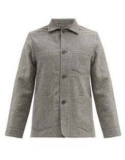 Chore Patch-pocket Wool-herringbone Jacket