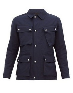 Leather-patch Cotton-gabardine Field Jacket