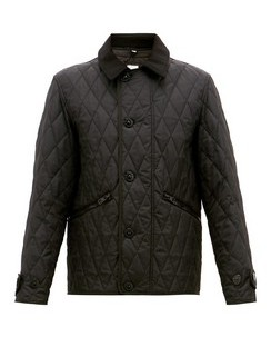 Spread Collar Quilted Field Jacket