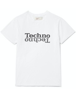 Techno Printed Combed Cotton-Jersey T-Shirt