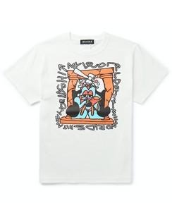 + Shinknownsuke Printed Cotton-Jersey T-Shirt