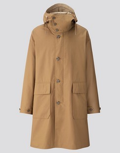 U hooded coat