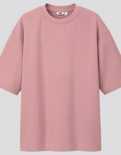 U AIRism cotton oversized crew neck H/S T-shirt