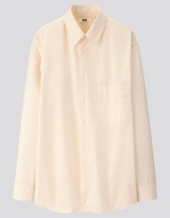 U Cotton regular collar L/S shirt