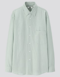 U Striped regular collar L/S shirt
