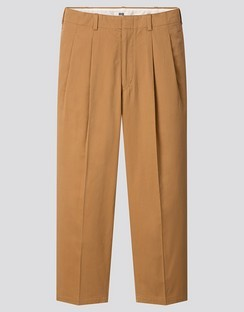 U wide fit pleated tapered pants