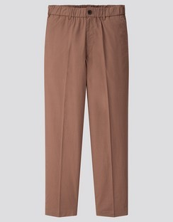 U cotton linen wide fit tapered pants