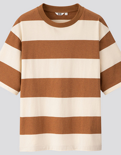 U oversized striped crew neck S/S T-shirt