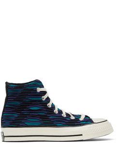 Blue & Purple Wavy Knit Chuck 70 High Sneakers
