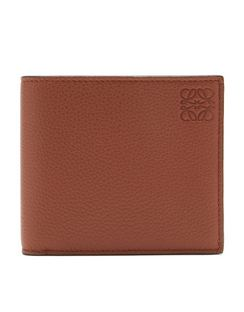 Logo-embossed Grained-leather Bifold Wallet