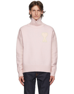 SENSE Exclusive Pink Ami De Coeur Turtleneck