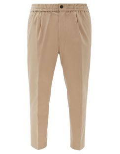 Cropped Cotton-twill Chinos