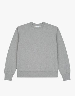 Crew Neck Sweatshirt Grey Marl