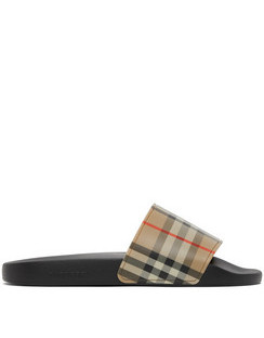 Beige Check Slides