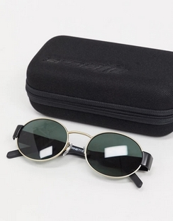 Round Sunglasses in Black/Gold 0AN3081