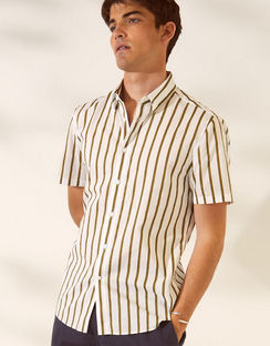 Toby Stripe Short Sleeve Voile Shirt